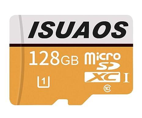 ISUAOS - Tarjeta de Memoria Micro SD SDXC de Alta Velocidad (Clase 10, 256 GB, Incluye Adaptador Micro SD)