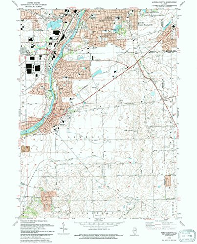 Aurora South IL topo map, 1:24000 scale, 7.5 X 7.5 Minute, Historical, 1993, updated 1994, 26.7 x 21.5 IN - - At Aurora Center Town