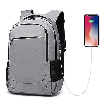 a3ddea7d5 Mochila Portatil 15.6 Pulgadas, Impermeable Mochila Hombre Mujer  Universitarias Trabajo Viaje Negocios, Mochila Bolsa Backpack con Puerto de  Carga USB para ...