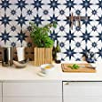 "Star Tile Stencil - Painting Stencils - Paint Stencil - DIY Tiled Floor Pattern - Stenciled Floor Design - Painted Floor Tiles - Boho Bohemian Moroccan European Tile Design (Large 12"" x 12"")"