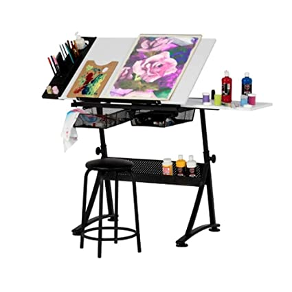 Superbe Drafting Tables For Adults, Table And Stool Set For Home Architecture Tall  Modern Drafting Table