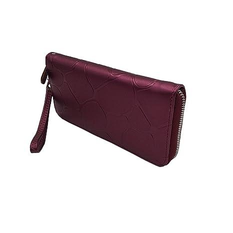 Wallet Women Leather Long Stone Pattern Zipper Luxury Brand ...