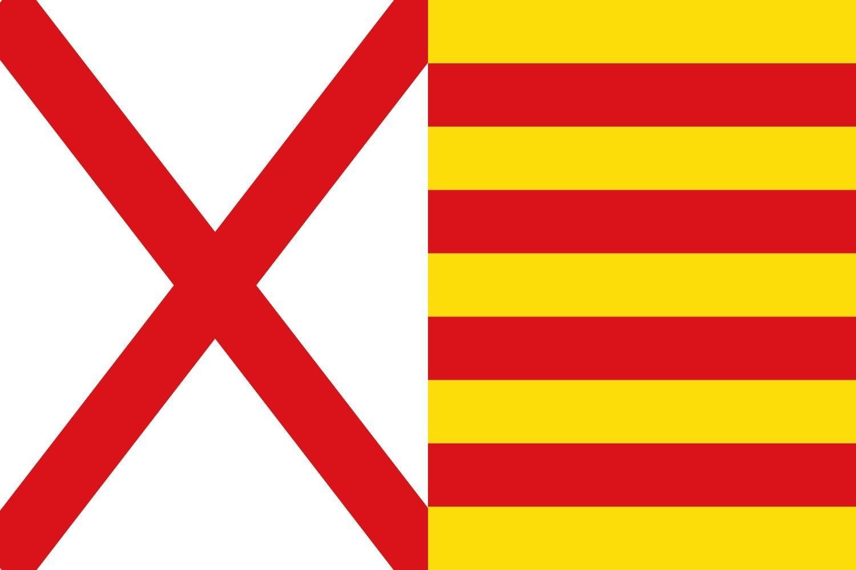 magFlags Bandera Large Hospitalet de Llobregat, Barcelona, España | Bandera Paisaje | 1.35m² | 90x150cm: Amazon.es: Jardín