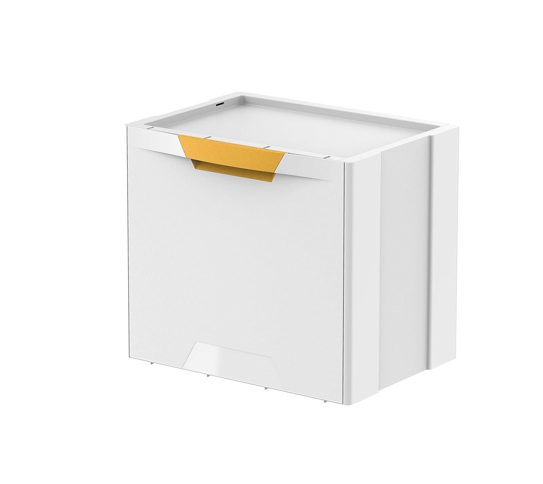 39/x 34,5 Meliconi Cubo ecocubes 22/Lt pl/ástico 5 Blanco//Amarillo