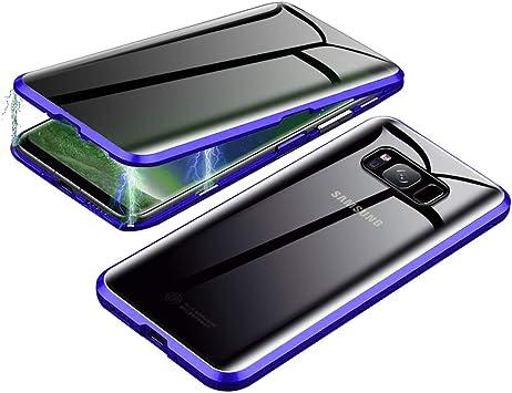 Jonwelsy Anti-Spy Funda para Samsung Galaxy S8 Plus, 360 Grados ...
