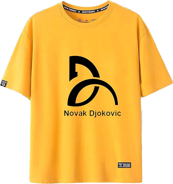 73FACAI Tenis Grand Slam Novak Djokovic Camiseta Unisex Adolescente Moda Cómoda Camisa Deportiva