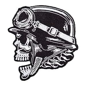 Plancha parche Death Calavera con casco