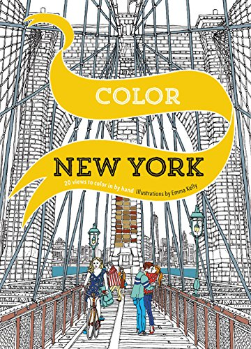 Color New York: 20 Views to Color in by Hand (New City Christmas York Activities)