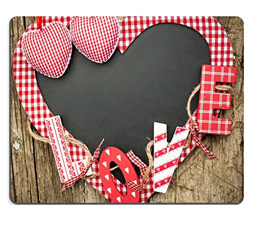 Luxlady Gaming Mousepad IMAGE ID: 24686930 Handmade vintage letters L O V E on wooden blackboard Valentine s day concept
