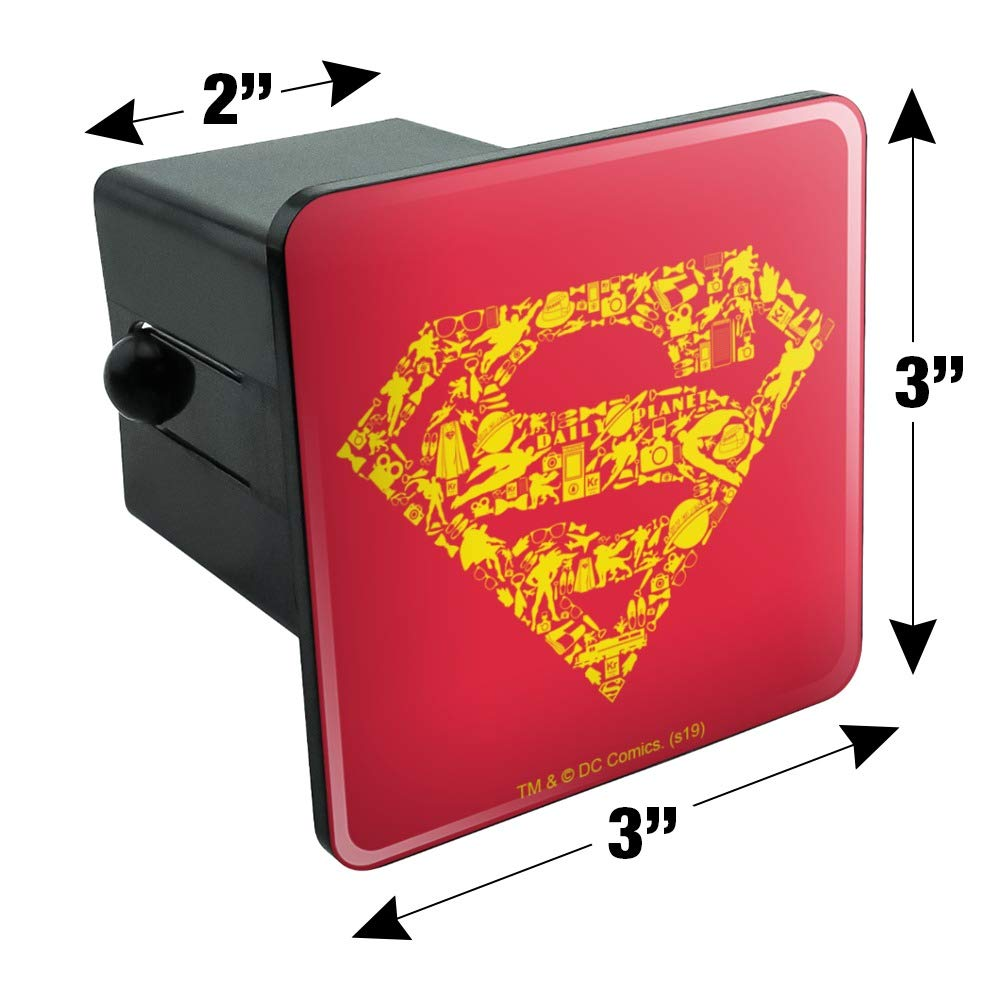 Graphics and More Superman Superman Icons Logo Tow Trailer Hitch Cover Plug Insert