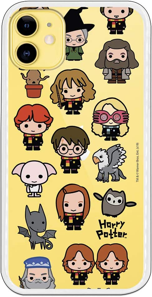 Funda para iPhone 11 Oficial de Harry Potter Personajes Iconos para Proteger tu móvil. Carcasa para Apple de Silicona Flexible con Licencia Oficial de Harry Potter.