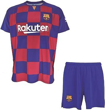 Conjunto Camiseta y pantalón 1ª equipación FC. Barcelona 2019-20 - Replica Oficial con Licencia - Dorsal 10 Messi - 2 años: Amazon.es: Deportes y aire libre