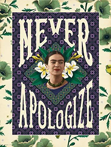 Latin Art - Frida Kahlo Never Apologize Art Print, Mexican Artist Colorful Wall Art, Unframed Home Decor 16