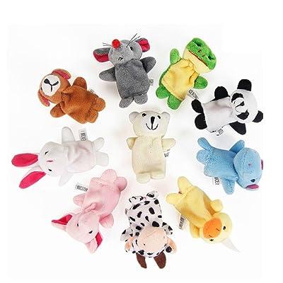 Bomcomi Marionetas del Dedo del pie Doble Preciosa Animales para Las 10 Piezas: Hogar
