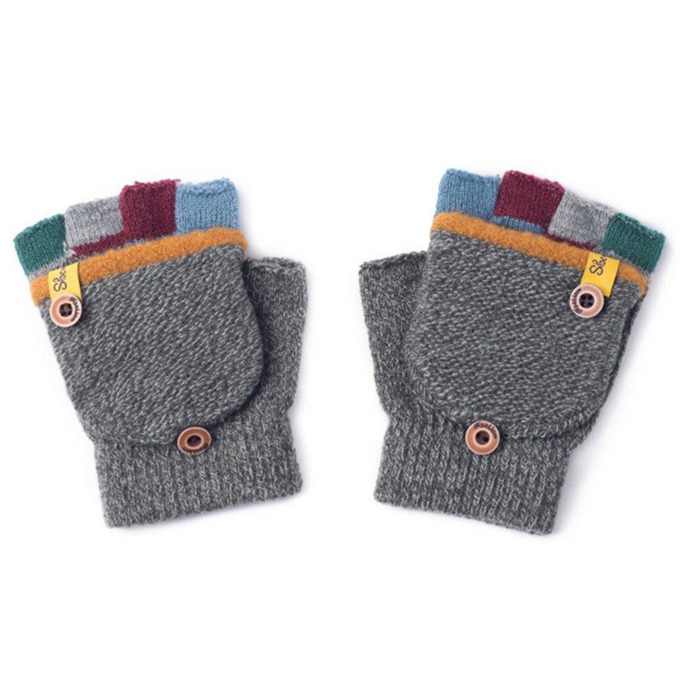 b53576c54c91 Pormow d automne et d hiver gants chauds pour bébé mitaines tricotées, 3