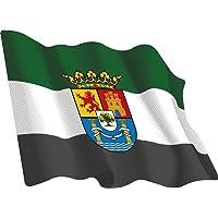 Artimagen Pegatina Bandera Ondeante Extremadura 65x50 mm.