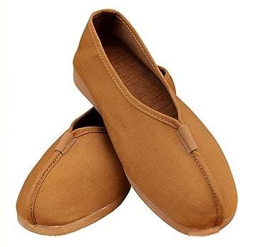 zooboo Monje Shaolin Unisex Zapatos De Artes Marciales Kung Fu Zapatillas Earth Yellow Talla:3 UK: Amazon.es: Deportes y aire libre