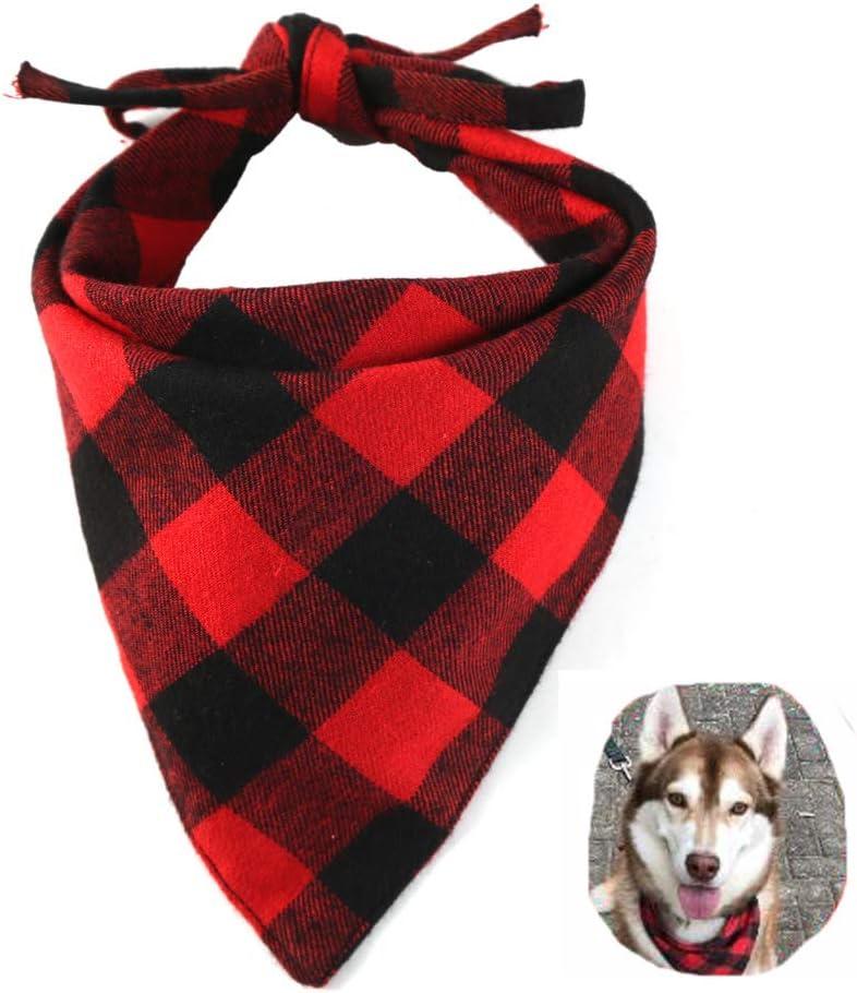Dog Collar Bandana Dog Bandana Scarf Dog Accessories Personality Fruit Print Pineapple RosePattern Cotton Plaid Washable Dog Bib Cat 3