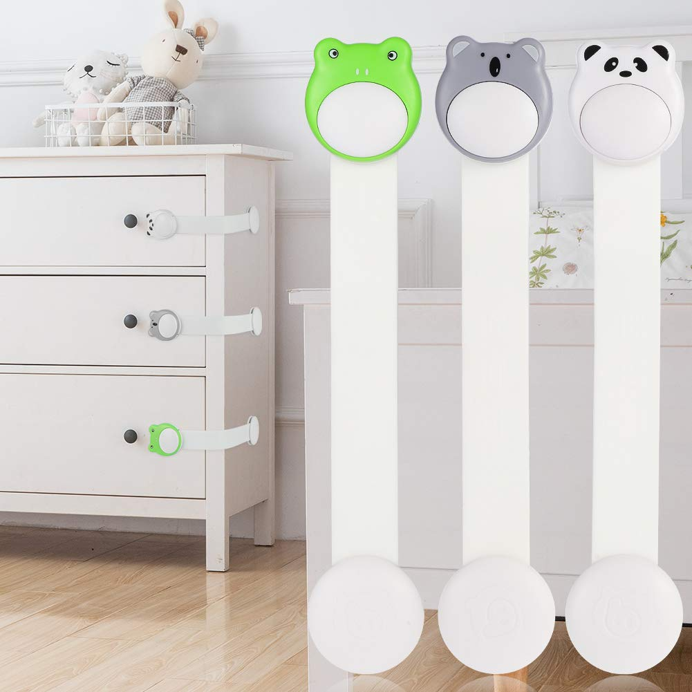 Fridge Drawers Extra Easy Install Toilet Seat FANCYLEO EU 6 Pcs Baby Safety Cupboard Locks Child Proofing for Cabinets No Tools Needed