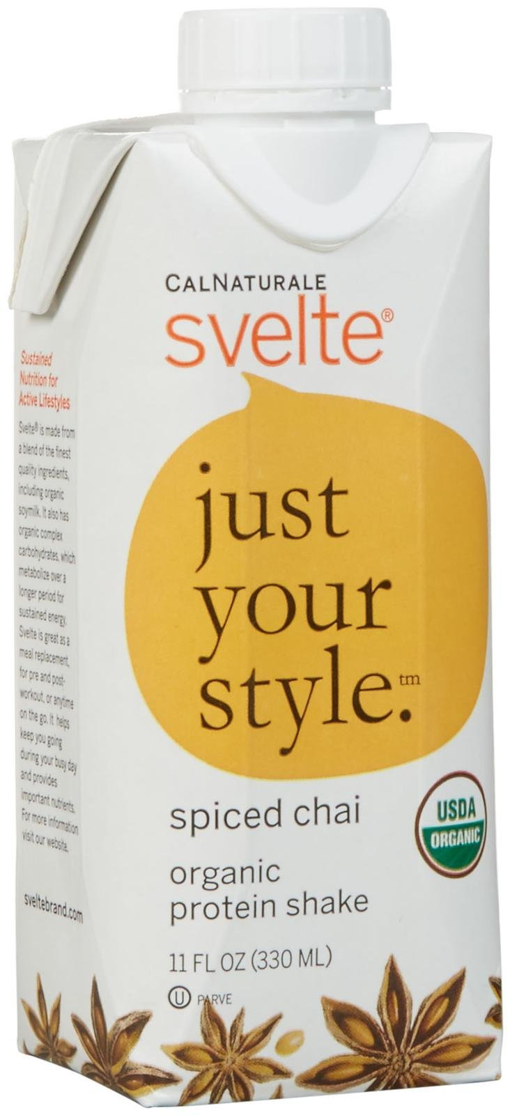 CalNaturale svelte Organic Protein Shake Drink - Spiced Chai - 11 oz - 8 Pack