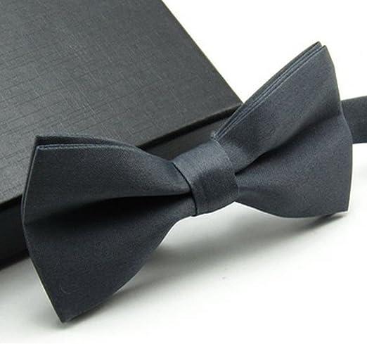 MAZE MA - Corbata de moño ajustable para hombre, color sólido ...
