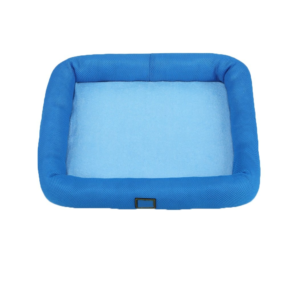 JH& Pet Kennel Cat Nest Removable And Washable Four Seasons ApplySmall Dog Bed Mat Dog Room,bluee,70  55cm ++