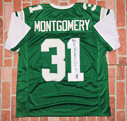 Wilbert Montgomery autographed signed insc. jersey NFL Philadelphia Eagles - Shipping Return Paypal