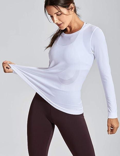 CRZ YOGA Femme T-Shirts et Tops de Sport à Manches Longue Chemise Workout  Running  Amazon.fr  Vêtements et accessoires 6f6f436341c