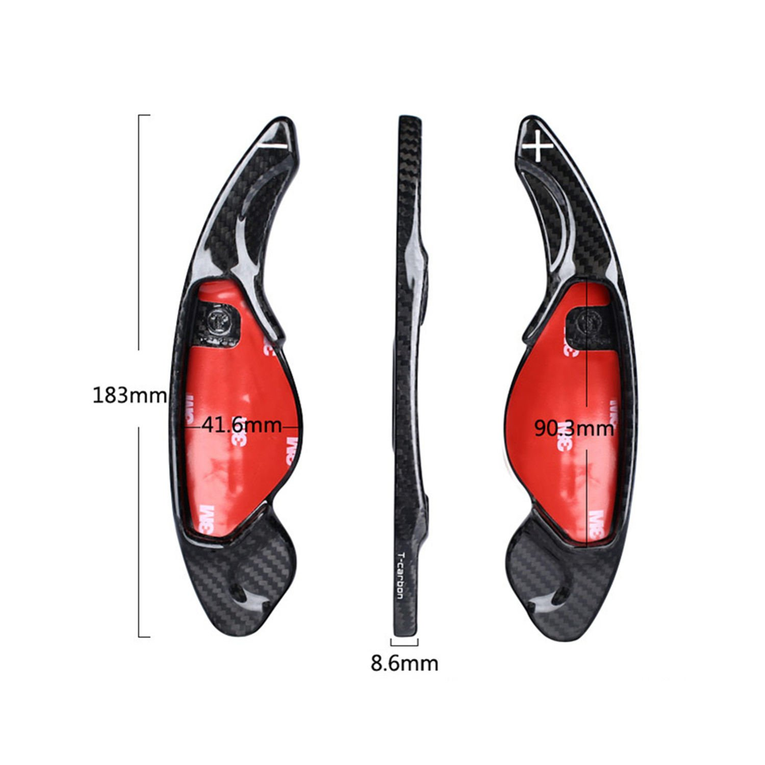 Red MissBlue Genuine Pure Carbon Fiber Car Steering Wheel Shift Paddle Blade Shifter Extension for Jaguar XE Jaguar XF Jaguar XFL Jaguar XJ Jaguar F-Type Jaguar F-PACE