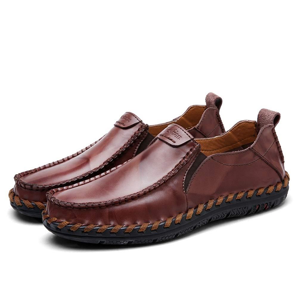 Fuxitoggo   Schuhe Herren echtes Leder Fashioni Schuhe  Casual Runde Heand U-TIPP Hand Made Derby (Farbe : Rot, Größe : EU 43) Rot a7c091
