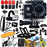 KoolCam AC300 HD 1080p H.264 Waterproof ACTION Camera / Camcorder w/ Wifi + SUPER Accessories Kit Includes: Head Strap + Chest Strap + Handheld Extendable MONOPOD Pole + Hermetically Sealed Floating Bobber + Adjustable Bike Mount + Long Life Battery + USB Charging Cable + External Charger + Adjustable Tripod Mount + 2 Adhesive Flat Stickers / Flat Surface Mounts + 2 Adhesive Curved Stickers / Curved Surface Mounts + Assorted Camera Mounts / Clips + an Extra Hard Waterproof Cover + Lens Cap Keeper + Memory Card Wallet Holder + Mini Table Tripod + Lens Cap Keeper + 2 Screen Protectors + Deluxe Cleaning Kit + Ultra Fine HeroFiber Cleaning Cloth