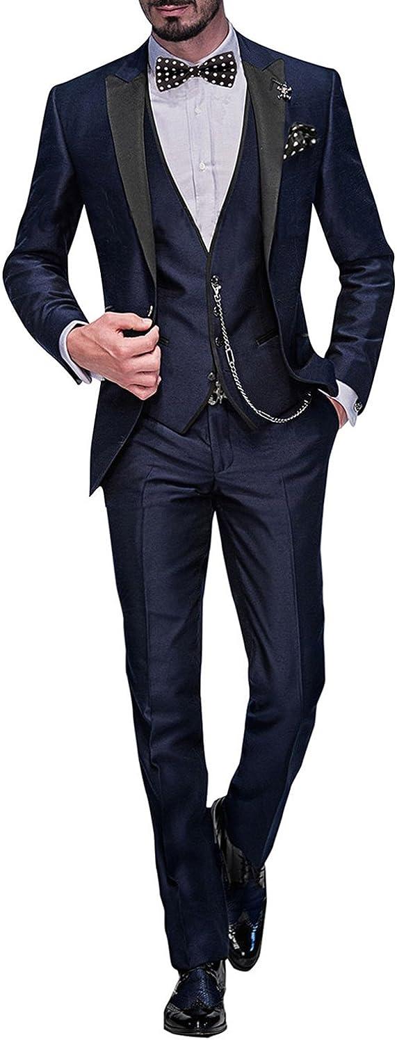 Cravatta,Piazza Pocket 002 George Abito Completo Uomo 5 Pezzi Tuta con Blazer,Pantaloni,Gilet