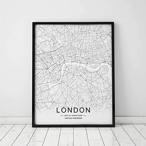 Amazon Com London City Downtown Map Wall Art London Street Map