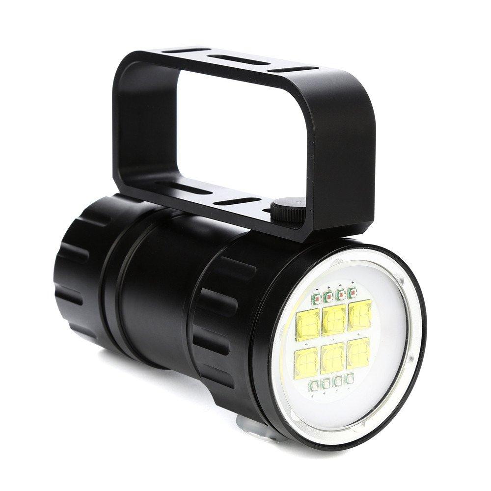 80m LED Diving Flashlight Photography Light Underwater IPX8 Waterproof Torch Lam (Black) ZORE