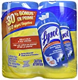 Lysol Disinfecting Surface Wipes, Value Pack (2x80), Spring Waterfall, 160 Count