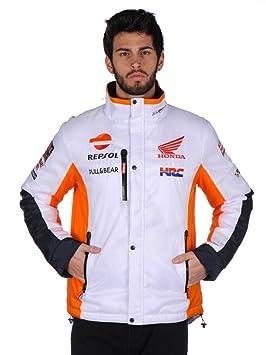2017 Repsol HRC Honda MotoGP Equipo para Hombre Chaqueta de Invierno para de Marc Márquez Pedrosa, Blanco: Amazon.es: Deportes y aire libre