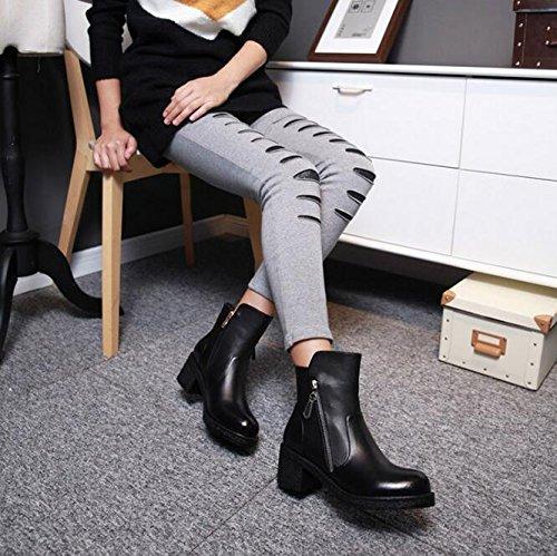 Neu Winter Reißverschluss Damen Stiefel