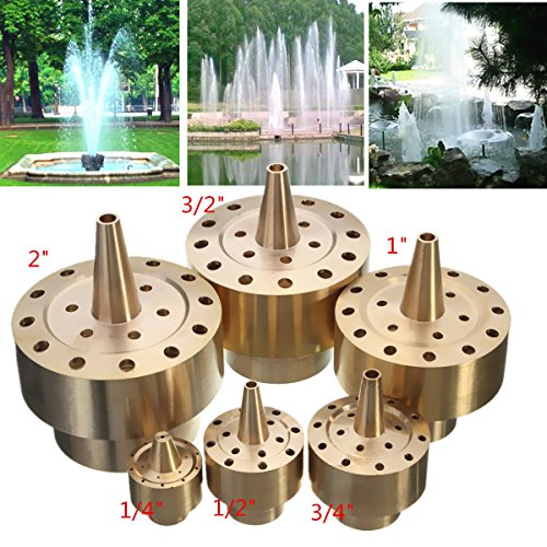Brass Column Fireworks Water Fountain Nozzle Garden Pond Sprinkler Spray Head (1/2'') by Yosoo (Image #8)