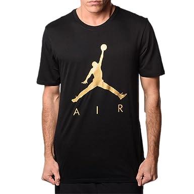 b73659239c78e4 Jordan T-Shirt - Sportswear Jumpman Air HBR Black Gold Size  XL (X-Large)   Amazon.co.uk  Clothing