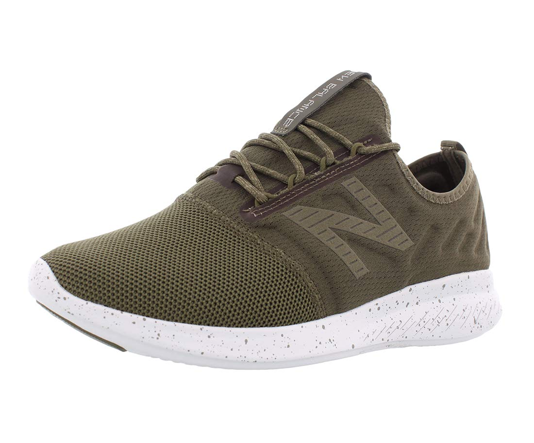 New Balance Men's Coast V4 FuelCore Running Shoe, Triumph Green/White Munsell, 10 4E US
