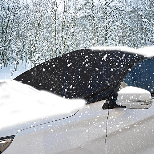 - Frost Windshield Cover,HHX Car Windscreen Snow Cover for Winter Snow Removal, Car Windshield Sunshade, Ice and Frost Guard Fits SUV, Car Windshields, Magnetic Snow Multi-used as Outdoors Picnic Mats