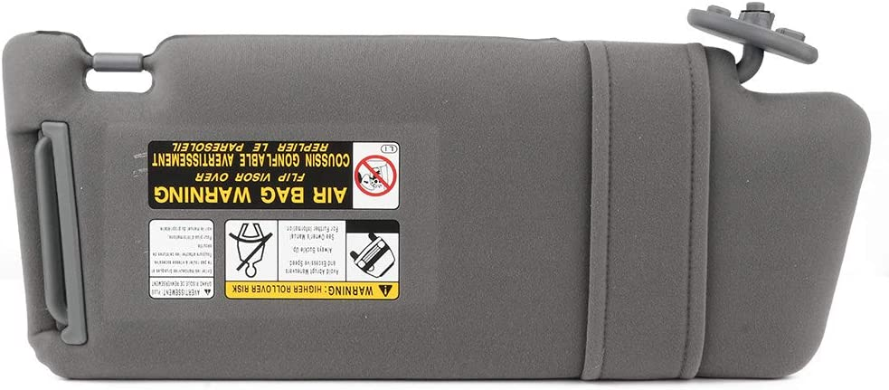 SCITOO Left /& Right sides Sun Visor Assembly fit for 2005-2011 for Toyota Tacoma without Sunroof Gray