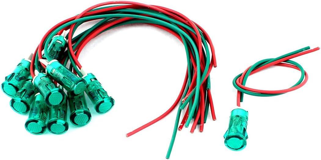 sourcingmap/® 10 Pcs DC 12V rouge lumi/ère signal indicateur pour /électrique Circuit