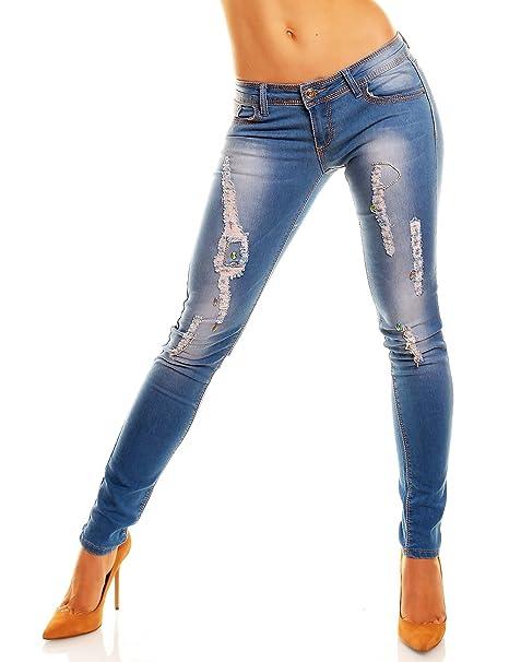 Tubos Skinny - Pantalones vaqueros con diseño de brillantes ...