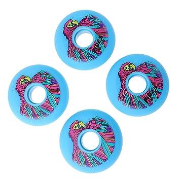Baoblaze Juego de 4 ruedas para patinaje en línea, 72 mm, reduce la fricción y aumenta la velocidad, azul: Amazon.es: Deportes y aire libre