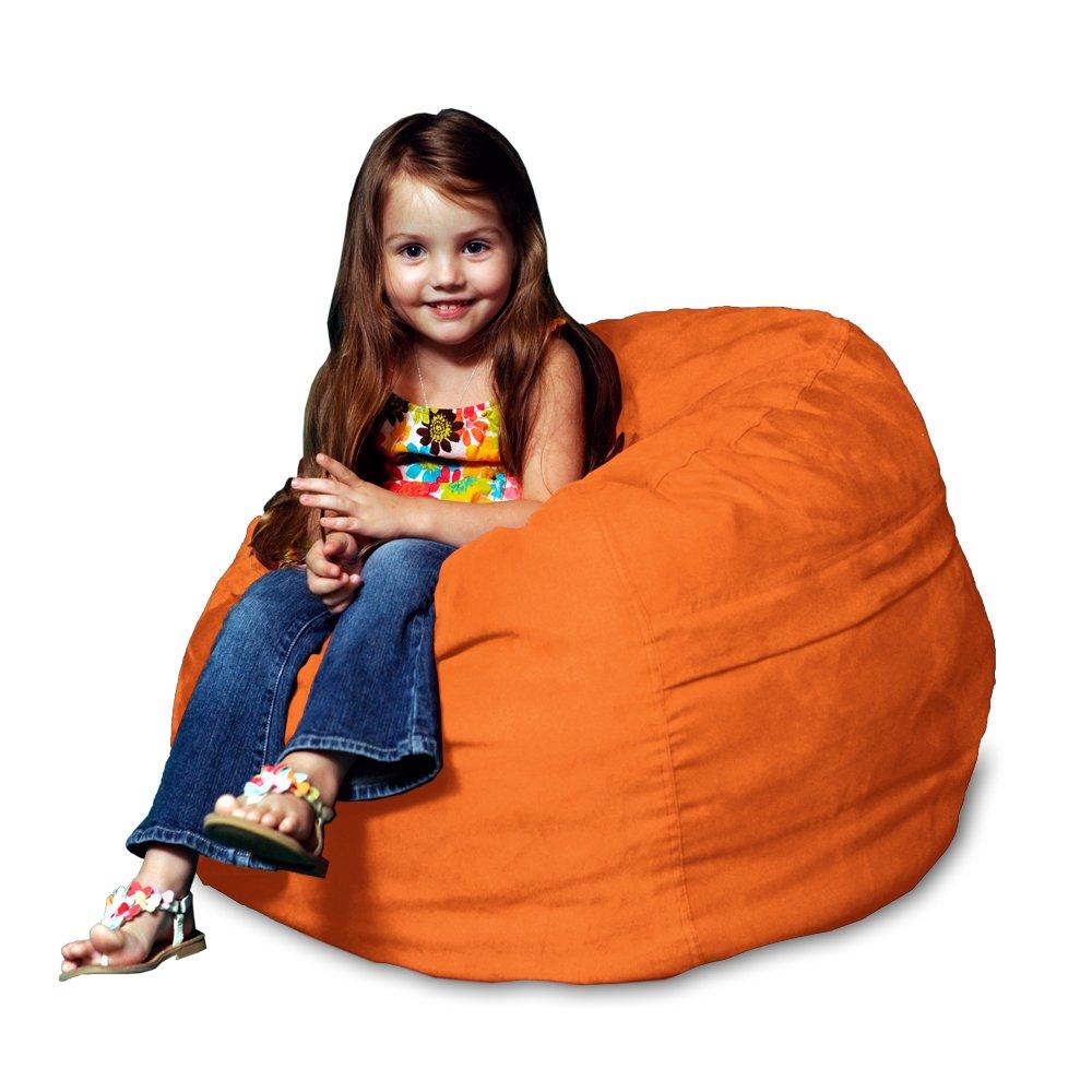 Chill Sack Bean Bag Chair: Large 2' Memory Foam Furniture Bean Bag - Big Sofa with Soft Micro Fiber Cover - Orange
