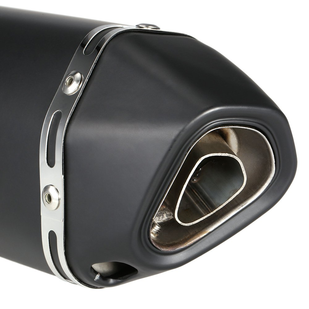 KKmoon 38-51mm /échappement Tuyau Silencieux Fibre de Carbone Couleur Petit Hexagonv Oblique Queue Refit avec Adapt/é pour les Motos VTT Universal