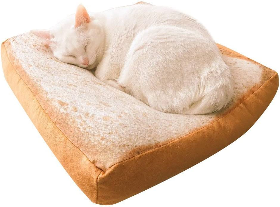 VENMO Pet Small Dog Cat Toast Funny Design Cushion Removable Sofa Home Soft Warm Mat Kitten Sleeping Pad Bed With Zip Washable