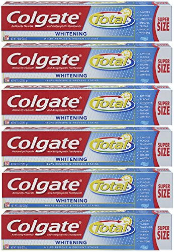 Colgate Total Whitening Gel Toothpaste - 7.8 ounce (6 Pack)