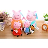 4Pcs/set Peppa Pig Stuffed Plush Toy 20/40cm Peppa George Pig Family Party Dolls Toys Christmas New Year Gift For Girl